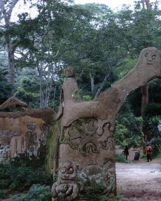 Eingangstor zum Hauptschrein von Ojubo Oshogbo