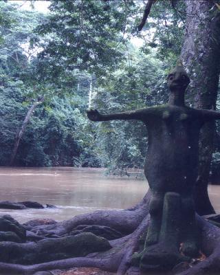 Oshun Fluss mit der Orisha Oshun von Shaka am Ojubo Oshogbo