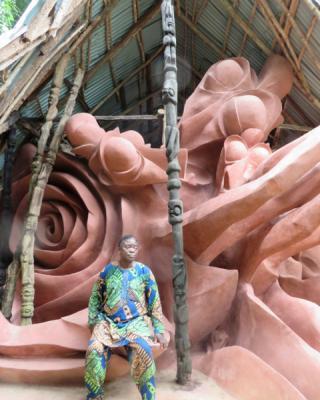 Restaurierung des Ogboni Schreines 2013