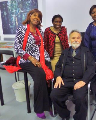 Besuch der ehemaligen nigerianischen Botschafterin Maria Oyeyinka Laose in der SWF