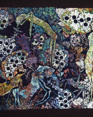 Die explosive Samenkraft des Erbarmens, 1992 – 1994, Wachsbatik / Textilmalerei, 265 x 640 cm