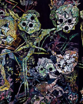 Obatala Metamorphosis, 1996 – 1999, Wachsbatik / Textilmalerei, 295 x 695 cm