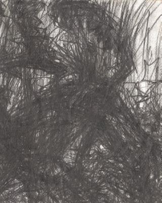 Bad im Oshun River, 1998, Bleistiftzeichnung, 20 x 30 cm