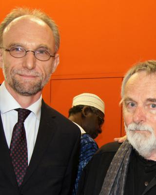 Dr. Joachim Öppinger, österr. Botsachafter in Nigeria, Wolfgang Denk, Foto © Helmut Wienerroither