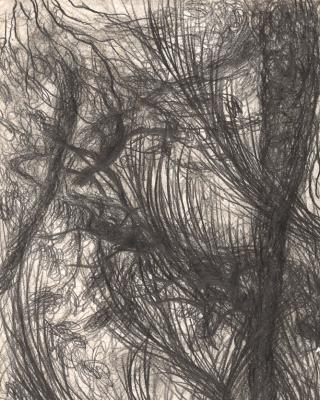Fulani und die Rinder, Rituale am Oshun River, 1990 – 1995, Bleistiftzeichnung, 29,5 x 21 cm