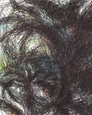 Gezweige meiner Brüder Bäume, 2001, Kugelschreiber Zeichnung, 21 x 30 cm