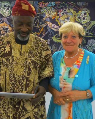 Chief Muraina Oyelami und Uschi Börsing