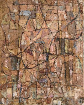 Die Begegnung, 1950, Öl auf Leinwand, 59 x 46 cm