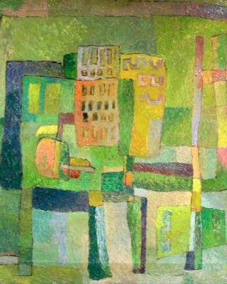Krankenzimmer, 1948, Öl auf Leinwand, 55 x 68 cm