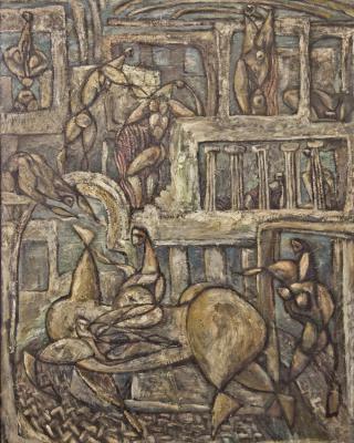 Die Heimkehrer, 1947, Öl auf Leinwand, 92 x 71 cm