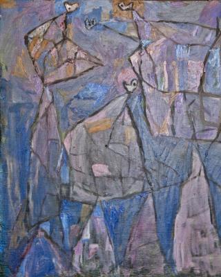 Vision Quest, 1982, Öl auf Sperrholz, 62 x 62 cm