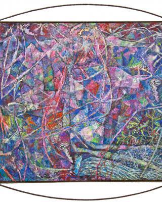 Gods in Exile, 1998, ÖL auf Sperrholz, 138 x 122 cm