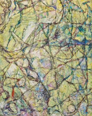 Obatalas Violation of Taboo, 1993, Öl auf Sperrholz, 122 x 81 cm