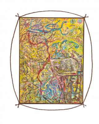 Nicht sinnlos, aber doch vergebens, 1992 - 1993, Öl auf Sperrholz, 122 x 91 cm