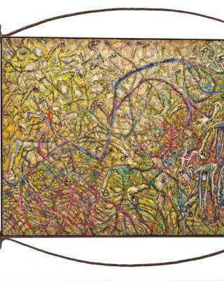 Last Pine Harvest, 1993 - 1994, Öl auf Sperrholz, 91 x 123 cm