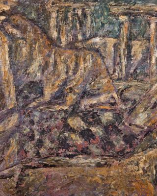 Heilige Kühe, 1954, Öl auf Sperrholz, 28 x 38 cm