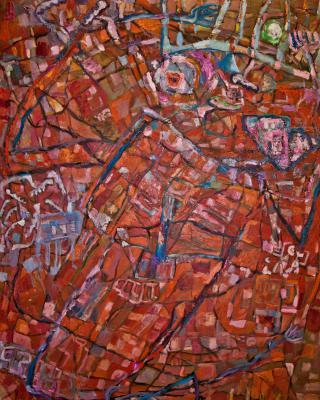 Hiob, 1984, Öl auf Sperrholz, 122 x 92 cm