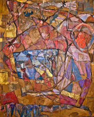 Amath, 1982, Öl auf Sperrholz, 81 x 67 cm