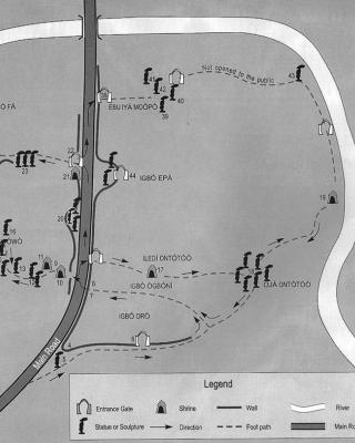 Plan des Heiligen Haines