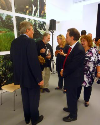 Eröffnung der SWF: Bernhard Zimburg, Wolfgang Denk, Inge Rinke, Christian Fellner