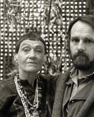 Susanne Wenger und Wolfgang Denk, 1985