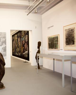 Blick in die Susanne Wenger Foundation