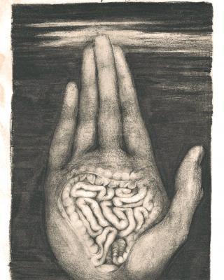 Tierkreis: Im Zeichen der Jungfrau, 1943 – 1945, Original Bleistiftzeichnung, 21 x 12,5 cm
