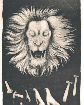 Tierkreis: Im Zeichen des Löwen, 1943 – 1945, Bleistiftzeichnung, 24,5 x 15,5 cm