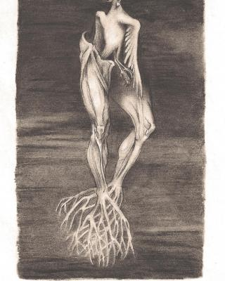 Tierkreis: Im Zeichen des Schützen, 1943 – 1945, Bleistiftzeichnung, 19 x 11 cm