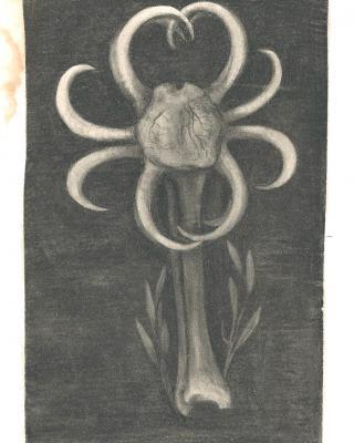 Tierkreis: Im Zeichen des Steinbockes, 1943 – 1945, Bleistiftzeichnung, 21 x 11.5 cm