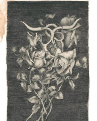 Tierkreis: Im Zeichen des Stieres, 1943 – 1945, Bleistiftzeichnung, 22,5 x 13,5 cm