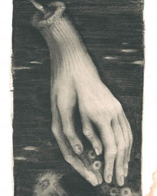 Tierkreis: Im Zeichen des Wassermanns, 1943 – 1945, Bleistiftzeichnung, 19,5 x 11,5 cm